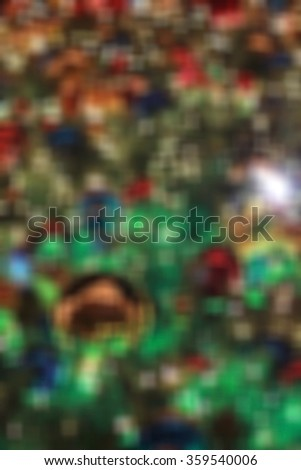 Bokeh background blur Christmas tree lighting at night. Year-end bonus New Year's Eve, New Year abstract happy New Year - stock photo