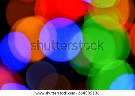 Bokeh Background. Holiday glowing Abstract Defocused Background With Blinking Lights. Blurred Bokeh
