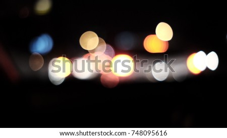 Bokeh background nightlight