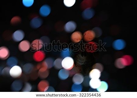 Bokeh background of haloween night - stock photo