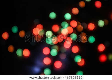 bokeh background red