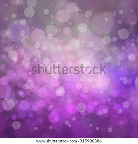 bokeh background, white lights on purple and gray background - stock photo