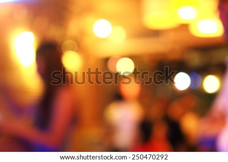 bokeh blue background in coffee shop  - stock photo