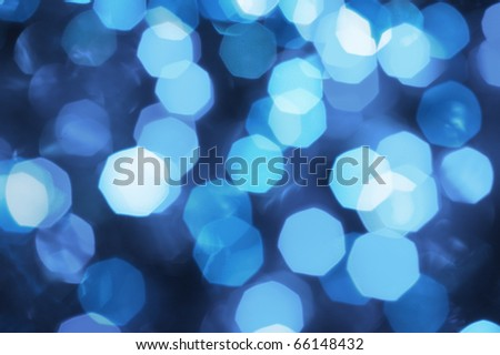 Bokeh Blue Lights - stock photo