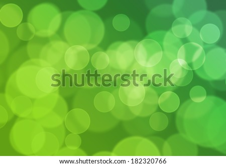 Bokeh Blurred light effect background from light green to dark green. Nature or Environment concept. - stock photo