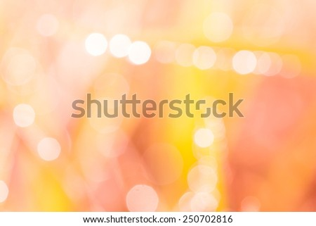 bokeh blurry natural abstract yellow and pink background  - stock photo