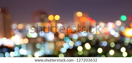 Bokeh building in Thailand - stock photo