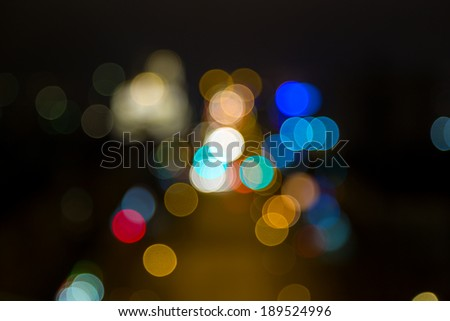 Bokeh from lights of the night city - stock photo
