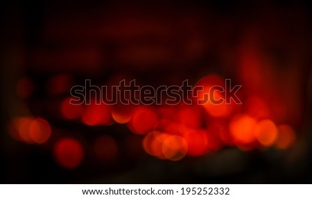 bokeh from live coals - stock photo