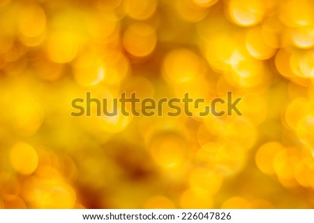 Bokeh gold colour abstract background