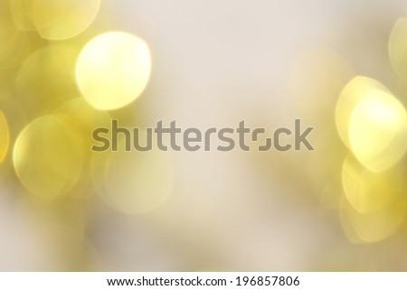 Bokeh gold lights - stock photo