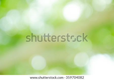Bokeh in a green natural background, defocused