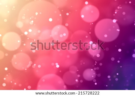 Bokeh in pink and purple tones background