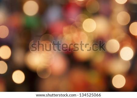 Bokeh lamp colorfull - stock photo