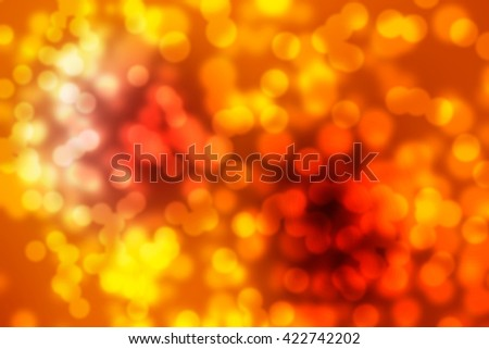Bokeh light in red orange background - stock photo