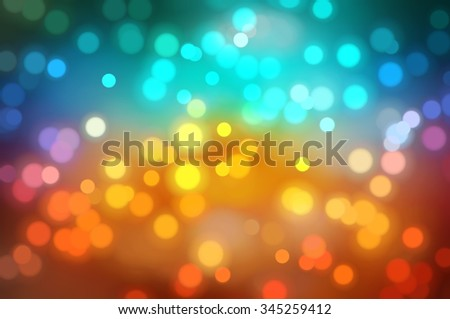 Bokeh light, shimmering blur spot lights on multicolored abstract background. - stock photo