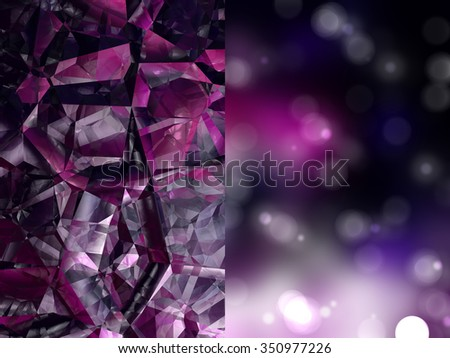 Bokeh light, shimmering blur spot lights on pink abstract background.