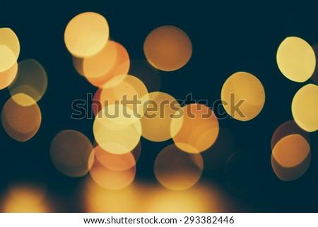 Bokeh light vintage background - stock photo