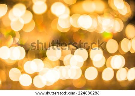 bokeh lighting decor. - stock photo