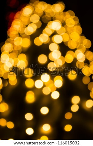 bokeh of christmas lights - stock photo