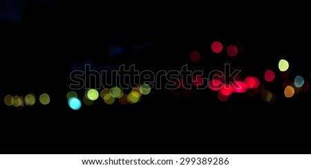 bokeh of night background - stock photo