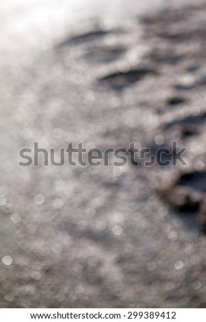 bokeh of sand background - stock photo