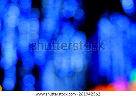 Bokeh of the color night light, blurred background.  - stock photo