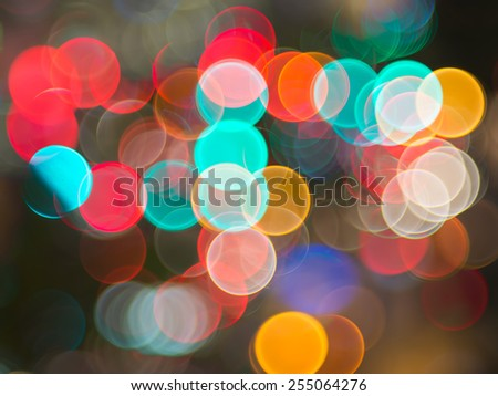 Bokeh of the colour night light, blurred background - stock photo