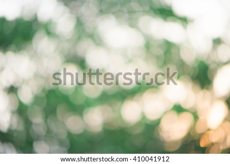 Bokeh of tree background with sunset - stock photo