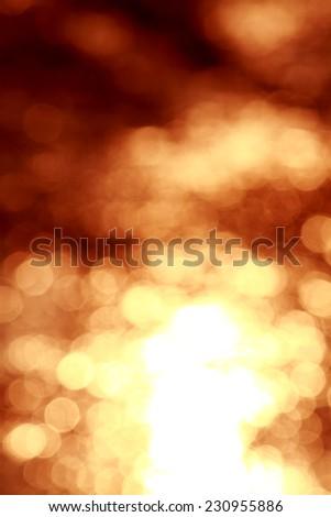 Bokeh of water on sunset - stock photo