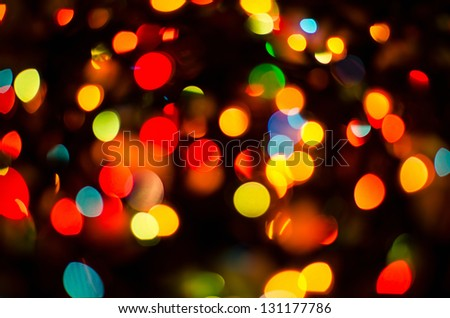 Bokeh on a dark background