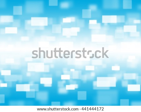 Bokeh on blue blurred background., Bokeh on blue space background