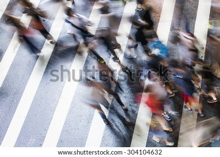 Bokeh view of TAIWAN Busy street - stock photo