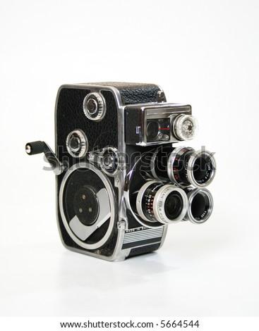 Bolex D8L 8mm film camera. - stock photo