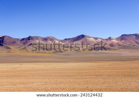 Bolivia, Antiplano, Los Lipez - multicolor mountains