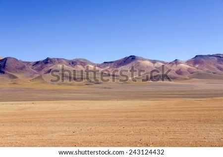 Bolivia, Antiplano, Los Lipez - multicolor mountains - stock photo