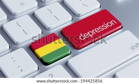 Bolivia High Resolution Depression Concept - stock photo