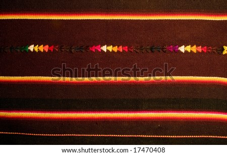 Bolivian and Andean tapestry - stock photo