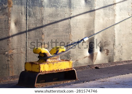 Bollard with foundation - stock photo