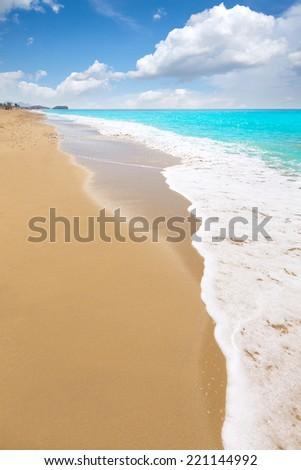 Bolnuevo beach in Mazarron Murcia at Mediterranean spain sea - stock photo