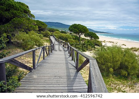Bologna beach, Tarifa, Cadiz province - stock photo
