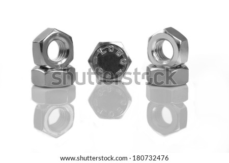 bolt and nut black and white