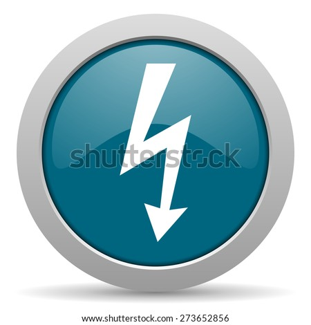 bolt blue glossy web icon