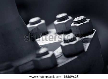 Bolt close up industrial abstract - stock photo
