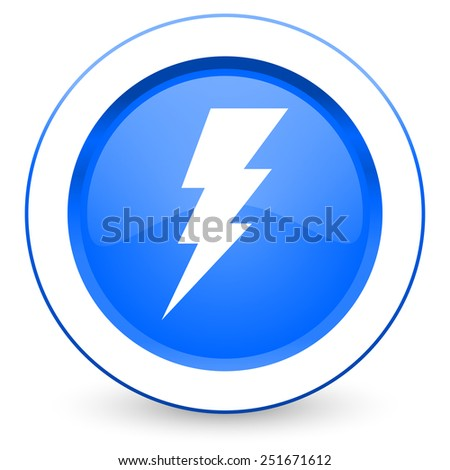 bolt icon flash sign  - stock photo