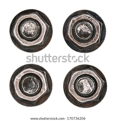 Bolts isolated on white. - stock photo