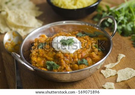 Bombay potato curry - stock photo