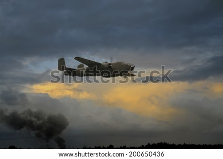 Bomber - stock photo