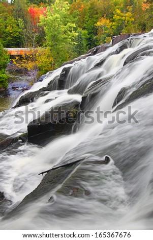 Bond Falls Scenic Area Michigan - stock photo