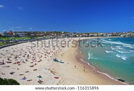 Bondi Beach in Sydney, Australia - stock photo